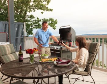 Personal gas grills for guests at Hermann Hill